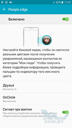 People edge на Samsung Galaxy S6 edge+
