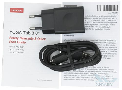 Комплектация Lenovo Yoga Tab 3 8.0