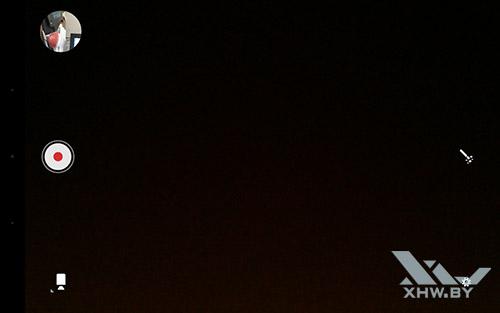 Интерфейс съемки видео камерой Lenovo Yoga Tab 3 8.0