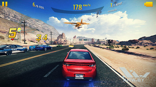 Игра Asphalt 8 на Dexp Ixion ML2 5