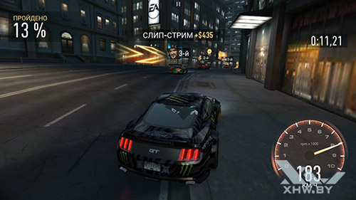 Игра Need For Speed: Most Wanted на Samsung Galaxy A5 (2016)