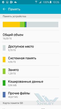 Память Samsung Galaxy A5 (2016)