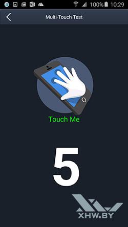 Экран Samsung Galaxy A5 (2016) распознает 5 касаний