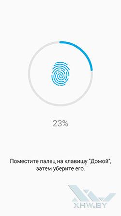 Добавление отпечатка на Samsung Galaxy A5 (2016)