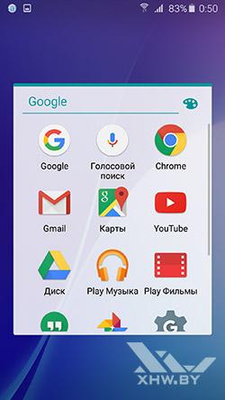 Приложения Google на Samsung Galaxy A5 (2016)
