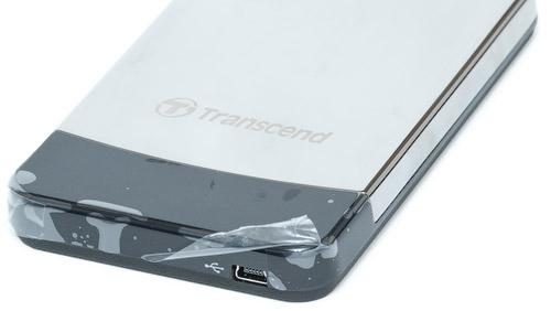 Разъем mini USB. Transcend StoreJet 25С 320 Гбайт (TS320GSJ25C)