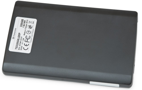 Вид снизу. Transcend StoreJet 25P 320 Гбайт (TS320GSJ25P)