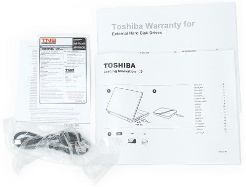 Комплект поставки. Toshiba Store Art 640 Гбайт (HDDR640E04EG)