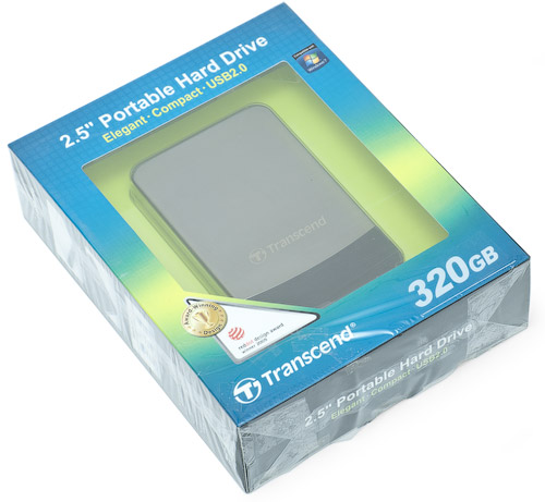 Коробка. Transcend StoreJet 25С 320 Гбайт (TS320GSJ25C)