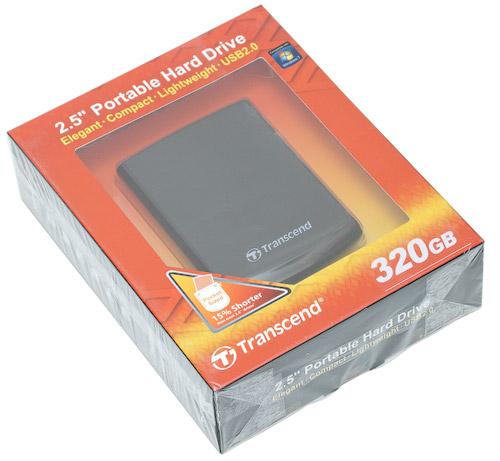 Коробка. Transcend StoreJet 25F 320 Гбайт (TS320GSJ25F)