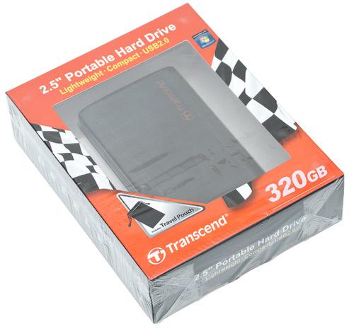 Коробка. Transcend StoreJet 25P 320 Гбайт (TS320GSJ25P)
