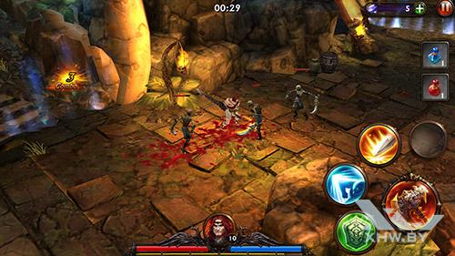 Игра Eternity Warriors 3 на Samsung Galaxy A7 (2016)