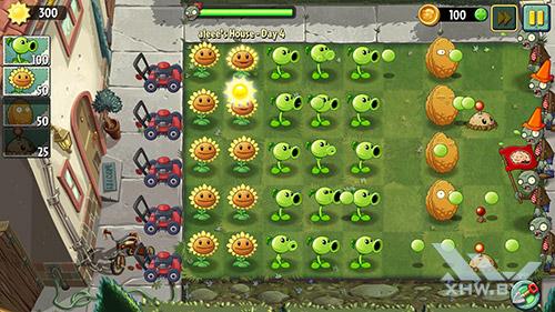 Игра Plants vs Zombies 2 на Samsung Galaxy A7 (2016)