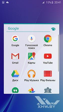 Приложения Google на Samsung Galaxy A7 (2016)