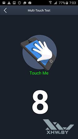 Экран Samsung Galaxy A7 (2016) распознает 8 касаний