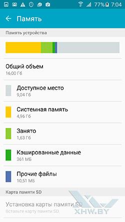 Память Samsung Galaxy A7 (2016)