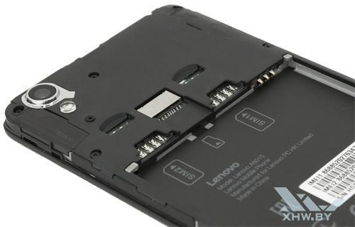 Отсеки внутри Lenovo A6010