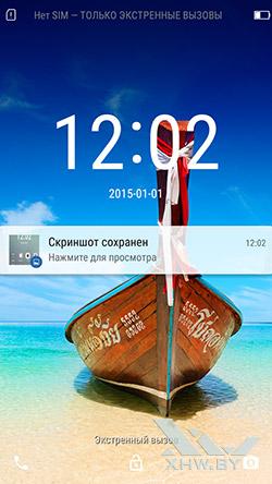 Экран блокировки Lenovo A6010