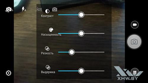 Параметры съемки камерой Lenovo A6010