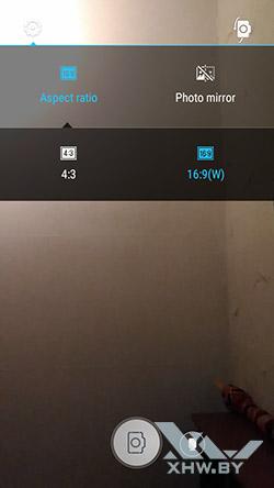 Соотношение сторон съемки лицевой камерой Lenovo A6010