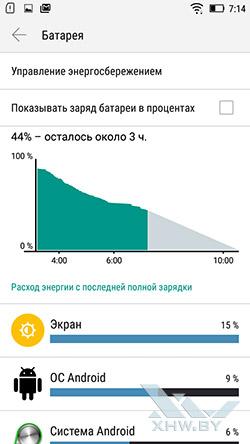 Параметры энергопотребления на Lenovo A6010. Рис. 1
