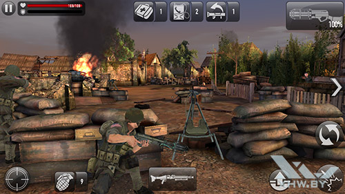 Игра Frontline Commando: Normandy на Samsung Galaxy A3 (2016)