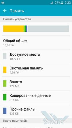 Память Samsung Galaxy A3 (2016)