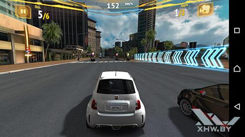 Игра Asphalt 7 на Sony Xperia M5