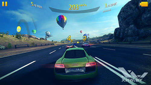 Игра Asphalt 8 на Sony Xperia M5