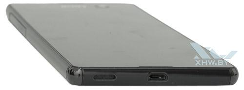 Нижний торец Sony Xperia M5