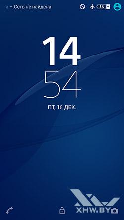 Экран блокировки Sony Xperia M5