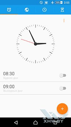 Часы на Sony Xperia M5