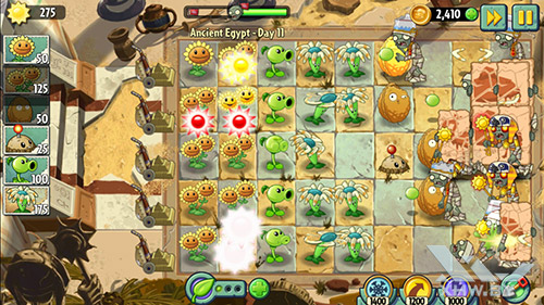 Игра Plants vs Zombies 2 на Samsung Galaxy J3 (2016)