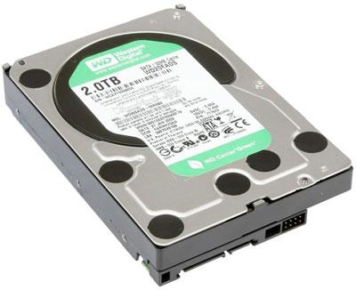 Жесткий диск Western Digital WD20EADS (емкость 2 Тбайта)