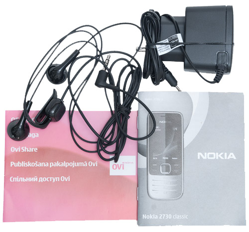 Комплект поставки Nokia 2700 classic и Nokia 2730 classic