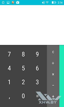 Калькулятор на Lenovo A1000. Рис. 1