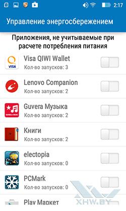 Энергосбережение на Lenovo A1000