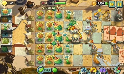 Игра Plants vs Zombies 2 на Samsung Galaxy J1 (2016)