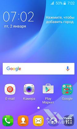 Рабочий стол Samsung Galaxy J1 (2016)