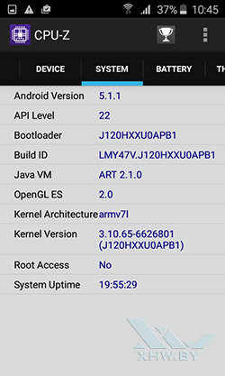 О системе Samsung Galaxy J1 (2016)