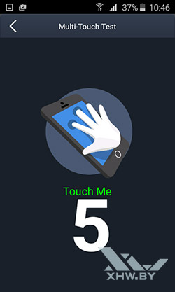Экран Samsung Galaxy J1 (2016) распознает 5 касаний