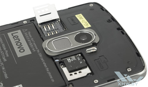 Разъемы для SIM-карт на Lenovo A7010