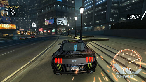 Игра Need For Speed: Most Wanted на Lenovo A7010