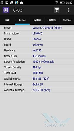 Система Lenovo A7010