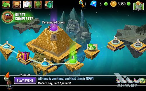 Игра Plants vs Zombies 2 на Samsung Galaxy Tab A 7.0 (2016)