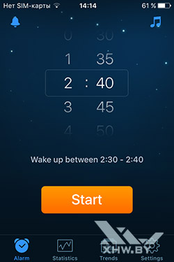 Будильник Sleep Cycle на iPhone. Рис. 1