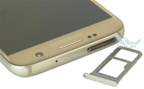 Отсек для SIM-карты на Samsung Galaxy S7