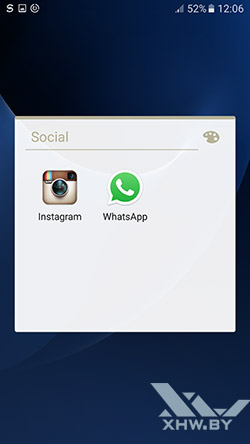Социальные клиенты на Samsung Galaxy S7
