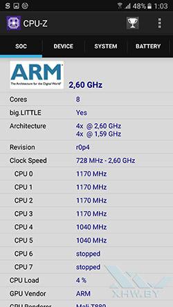 Процессор Samsung Galaxy S7. Рис. 1