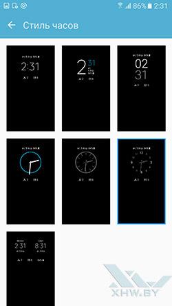 Стиль часов Always On на Samsung Galaxy S7